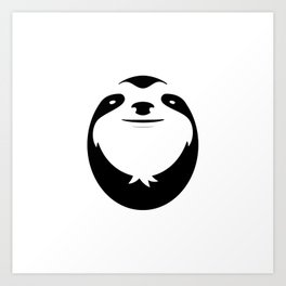 The Majestic Sloth Art Print