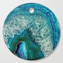 Aqua turquoise agate mineral gem stone Cutting Board