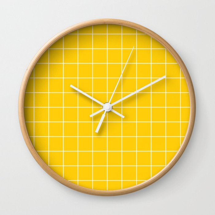 Sunshine Grid Wall Clock