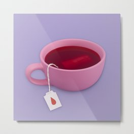 Blood tea Metal Print