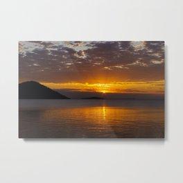Lake Malawi Sunset Metal Print