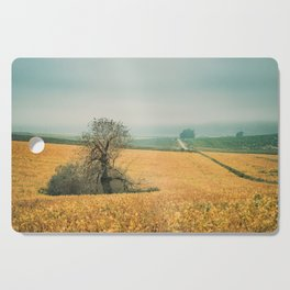 The field in autumn Cutting Board