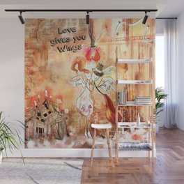 Love gives you Wings Wall Mural