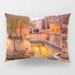 Paris Pont Neuf at Dusk Pillow Sham