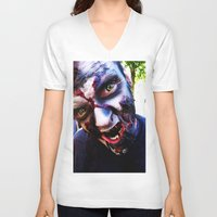 zombies V-neck T-shirts featuring Zombies ! by bobbierachelle