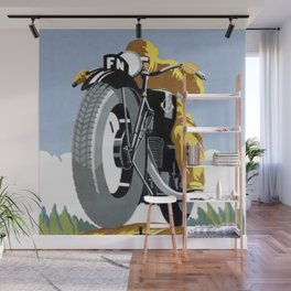 1925 FN Motorcycle Fabrique Nationale de Herstal Vintage Poster  Wall Mural