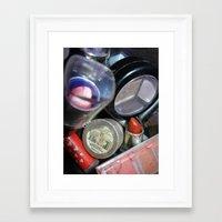 makeup Framed Art Prints featuring Makeup  by BruiseViolet