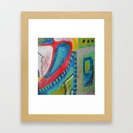 Abstract landscape - bright, eye-opening, vibrant color piece Framed Art Print