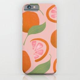 Pink Grapefruit  iPhone Case