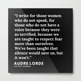 20   | 200302 | Audre Lorde Quotes Metal Print