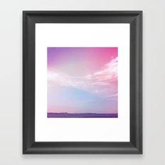 the sky + the sound Framed Art Print