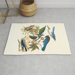 Yellow-billed Magpie, Stellers Jay, Ultramarine Jay and Clark's Crow Rug