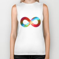 infinite Biker Tanks featuring Infinite by deff
