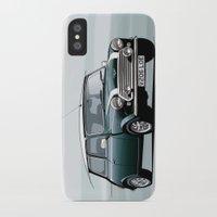 mini cooper iPhone & iPod Cases featuring Classic Mini Cooper by TCORNELIUS