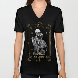 The Lovers VI Tarot Card Unisex V-Neck