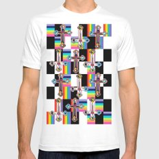Jesus is The New Pattern MEDIUM White Mens Fitted Tee