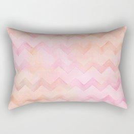 Watercolor Chevron stripes in soft pastels Rectangular Pillow