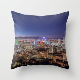 Montreal Night Moves Throw Pillow
