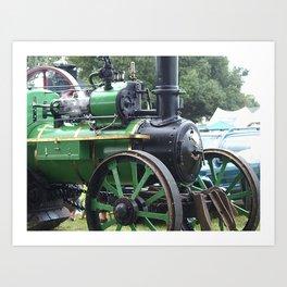 Steam Power 2 - Tractor Art Print