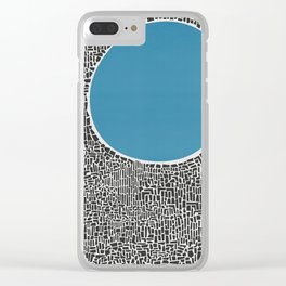 Abstract Blue Lake Clear iPhone Case
