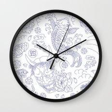 Japanese Tattoo Wall Clock