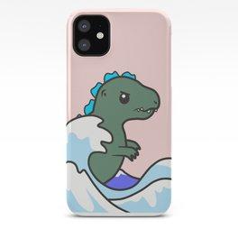 kawaii tiny godzilla kanagawa wave iPhone Case