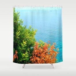 Leaves & Sea Shower Curtain