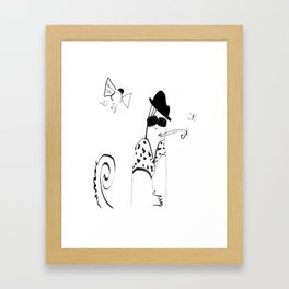 The Chameleon is not to be trusted Framed Art Print
