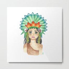 Crown of Leaves Metal Print