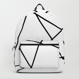 Lines in Chaos II - White Backpack