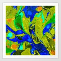 Green Flow Art Print