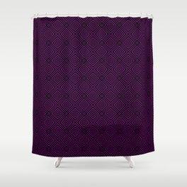 Purple Chevrons Shower Curtain