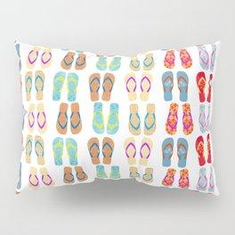 Summer Flip Flops Pattern Pillow Sham