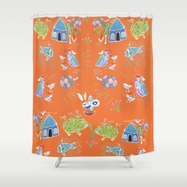 Life in Africa Shower Curtain