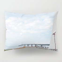 Bridge and Lighthouse Pillow Sham