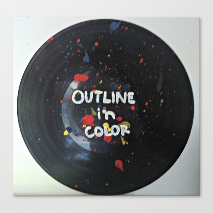 Outline In Color on vinyl Canvas Print