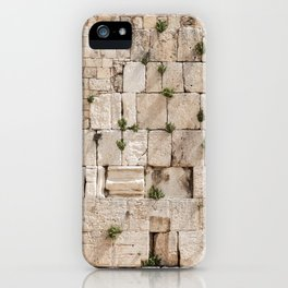 Vegetation on the Wailing Wall (Kotel) - Kotel art - Wall Fine iPhone Case