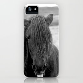 Icelandic Horse Sticking out Tongue iPhone Case