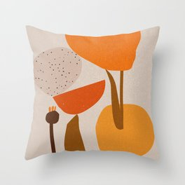 'Slippery stones' composition no 03.  Throw Pillow