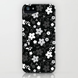 Black & White Floral iPhone Case