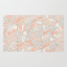 Pattern Rose Triangle Rug