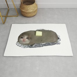 Crying Baked Potato Cat with Butter? Rug