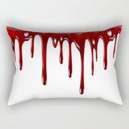 Blood Dripping White Rectangular Pillow