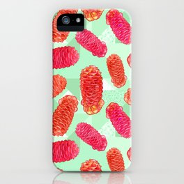 Australian Native Floral Print - Beehive Ginger iPhone Case