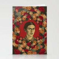 frida Stationery Cards featuring FRIDA by badOdds