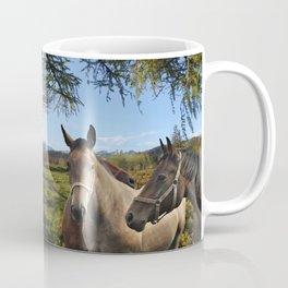 HORSES ON A MONTAIN MEADOW Coffee Mug