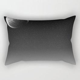 Moon in the Night Sky Rectangular Pillow