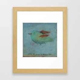 With My Song- Psalm 28:7 Framed Art Print