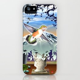 DW-027 Homage To Magritte iPhone Case