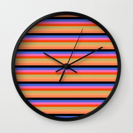 70's stripes Wall Clock